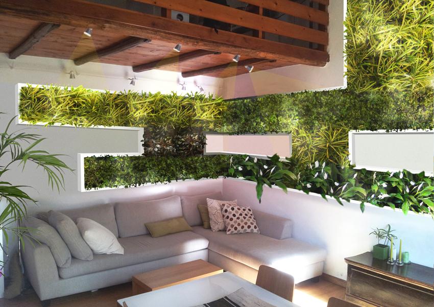 Paretiverdi gli elementi dell abitare tra spazio e giardino - Giardino verticale interno ...