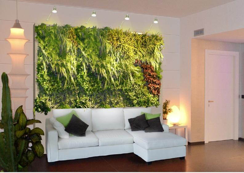 parete salotto verde ~ idee per il design della casa - Pareti Soggiorno Verde Acido
